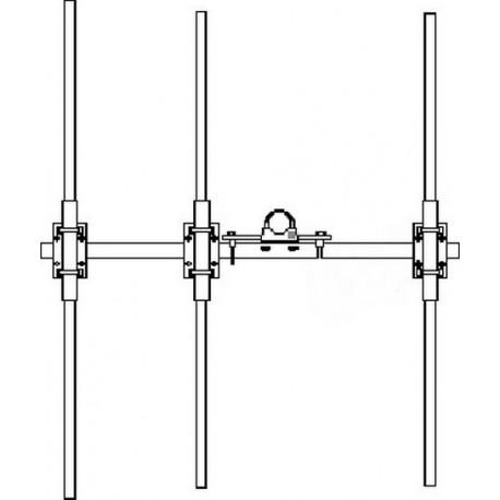 ANTENNE Yagi 68/88 MHz 3 éléments