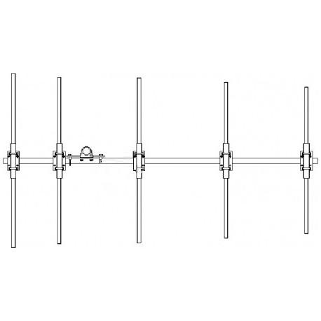 ANTENNE Yagi 68/88 MHz 5 éléments